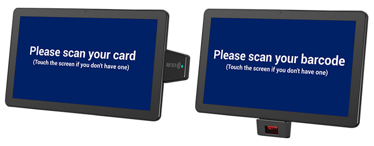 Check-in App, RFID and barcodee