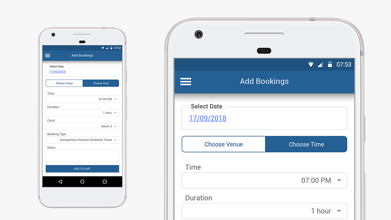 Customer Portal Add Bookings Mobile